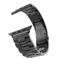 Curea metalica compatibila cu Apple Watch, 44mm, Negru