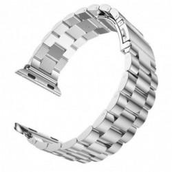 Curea metalica compatibila cu Apple Watch, 44mm, Argintiu