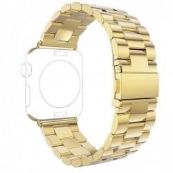 Curea metalica compatibila Apple Watch, 42mm, Auriu