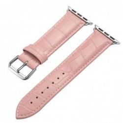 Curea din piele pentru Apple Watch, 42mm, Roz