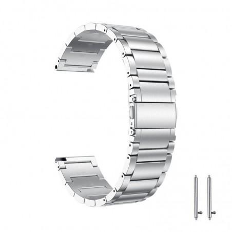 Curea din metal compatibila cu Samsung Galaxy Watch Active, Telescoape QR, 20mm, Argintiu