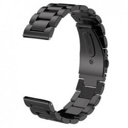 Curea din metal compatibila cu Smartwatch, 24mm, Negru,...