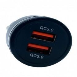 Incarcator auto, QC 3.0, negru