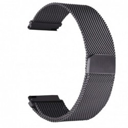 Curea tip Milanese Loop, compatibila Smatwatch, 18mm, black