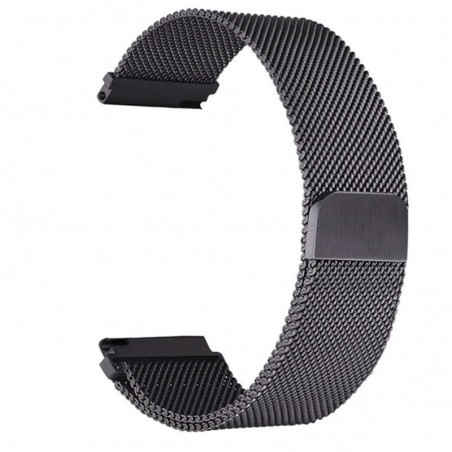 Curea tip Milanese Loop, compatibila Huawei Fit Honor S1, black