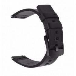 Curea piele naturala, compatibila Smatwatch, 18mm, black