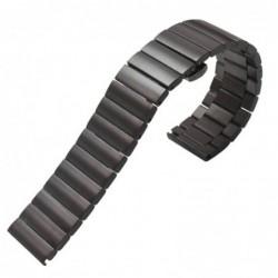 Curea metalica compatibila Smatwatch, 18mm, Negru,...