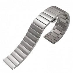 Curea metalica compatibila Smatwatch, 18mm, Argintiu,...