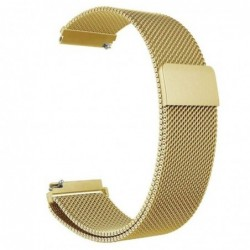 Curea tip Milanese Loop, compatibila Smatwatch, 18mm, Auriu