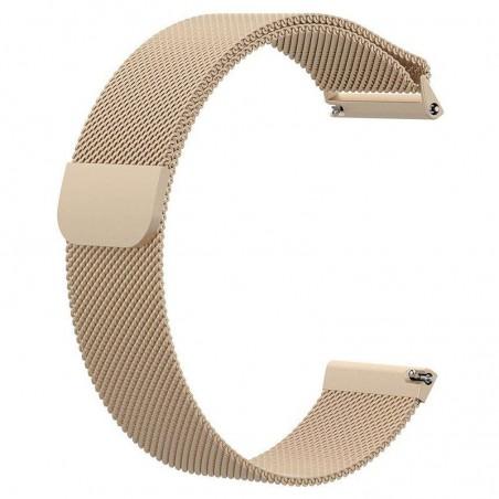 Curea tip Milanese Loop, compatibila Huawei Watch Generatia 1, 18mm, Retro Gold