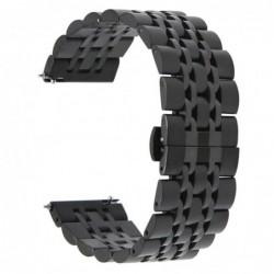 Curea metalica Smartwatch 20mm telescoape QR, 18.5cm, Negru