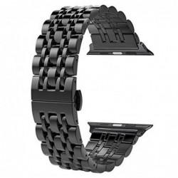 Curea metalica, compatibila Apple Watch 44mm, Black