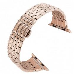 Curea metalica, compatibila Apple Watch 44mm, Diamond...