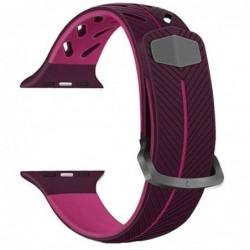 Curea silicon compatibila Apple Watch 44mm, Violet