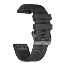 Curea silicon compatibila Garmin Quatix 3, 26mm, Negru
