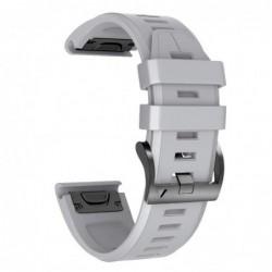 Curea silicon compatibila Garmin Quatix 3, 26mm, Gri