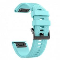 Curea silicon compatibila Garmin Quatix 3, 26mm, Verde