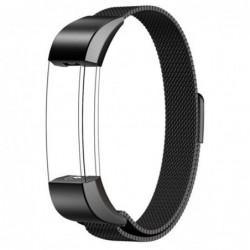Curea metalica tip Milanese Loop, compatibila Fitbit...