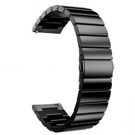 Curea metalica, compatibila Samsung Galaxy Watch Active 2, telescoape Quick Release,  Negru