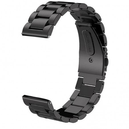 Curea din metal, compatibila Samsung Galaxy Watch Active 2, telescoape Quick Release,  Black