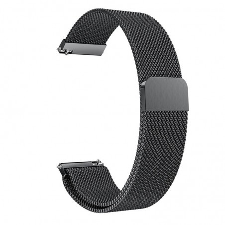 Curea Milanese Loop Slim, compatibila Samsung Galaxy Watch Active 2, telescoape Quick Release,  Negru