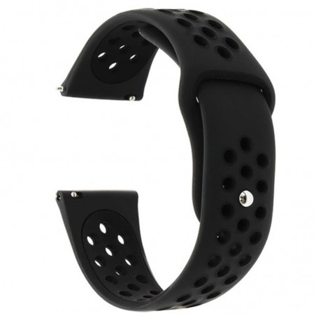 Curea silicon, compatibila Samsung Galaxy Watch Active 2, telescoape Quick Release,  Negru