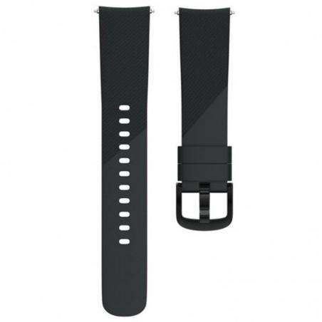 Curea silicon, compatibila Samsung Galaxy Watch Active 2, telescoape Quick Release,  Black
