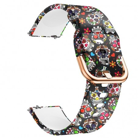 Curea silicon, compatibila Samsung Galaxy Watch Active 2, telescoape Quick Release,  Vintage Model