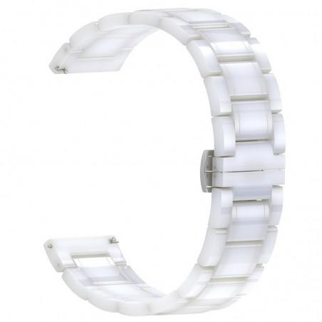 Curea ceramica, compatibila Huawei Watch GT 2 46mm, telescoape Quick Release, 22mm, Alb