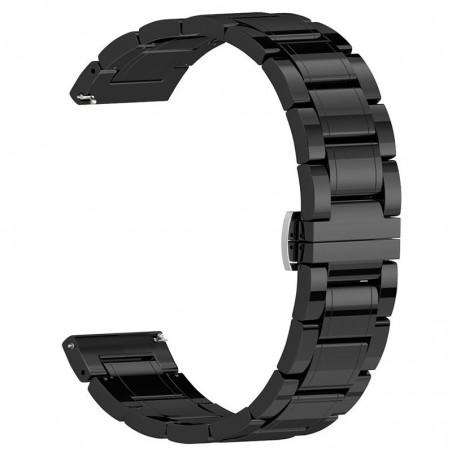 Curea ceramica, compatibila Huawei Watch GT 2 46mm, telescoape Quick Release, 22mm, Negru