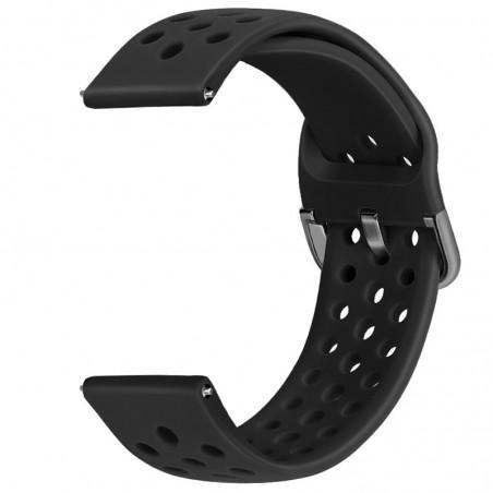 Curea din silicon, compatibila Huawei Watch GT 2 46mm, telescoape Quick Release, 22mm, Negru