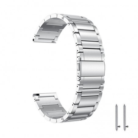 Curea metalica compatibila Huawei Watch GT 2 46mm, telescoape Quick Release, 22mm, Silver