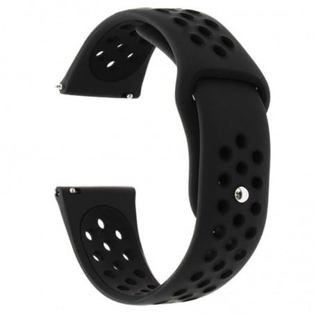 Curea silicon compatibila Huawei Watch GT 2 46mm, telescoape Quick Release, 22mm, Negru Carbon