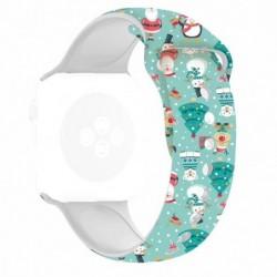 Curea silicon, compatibila Apple Watch 44mm, Magia...