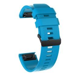 Curea silicon compatibila Garmin Quatix 3, 26mm, Albastru...