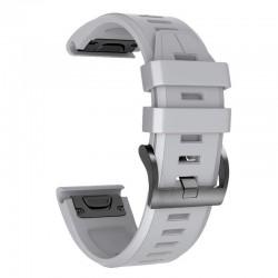 Curea silicon compatibila Garmin Fenix 3 HR, 26mm, Gri