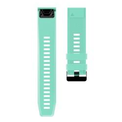 Curea silicon compatibila Garmin Fenix 5 GPS, 22mm, Verde