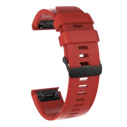 Curea silicon compatibila Garmin Fenix 5 GPS, 22mm, Rosu