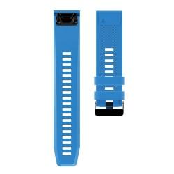Curea silicon compatibila Garmin Fenix 5, 22mm, Albastru...