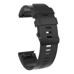 Curea silicon compatibila Garmin Fenix 5 GPS, 22mm, Negru