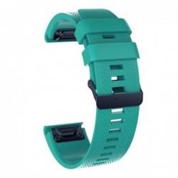 Curea silicon compatibila Garmin Quatix 3, 26mm, Green/Black