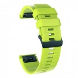 Curea silicon compatibila Garmin Quatix 3, 26mm, Light Green
