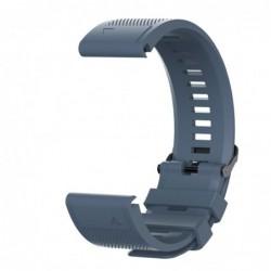 Curea silicon compatibila Garmin Fenix 6, 22mm, Space Gray