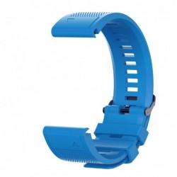 Curea silicon compatibila Garmin Fenix 6, 22mm, Albastru...
