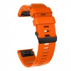 Curea silicon compatibila Garmin Fenix 6, 22mm, Portocaliu