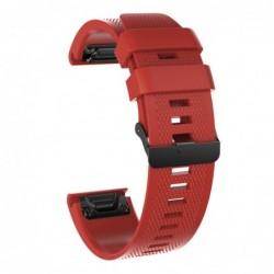 Curea silicon compatibila Garmin Fenix 6, 22mm, Rosu