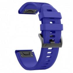 Curea silicon compatibila Garmin Fenix 6X, 26mm, Midnight...