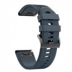 Curea silicon compatibila Garmin Fenix 6X, 26mm, Space Gray