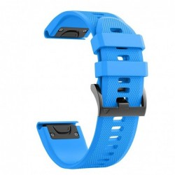 Curea silicon compatibila Garmin Fenix 6X, 26mm, Albastru...
