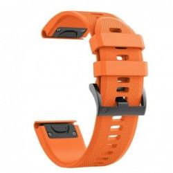 Curea silicon compatibila Garmin Fenix 6X, 26mm, Portocaliu